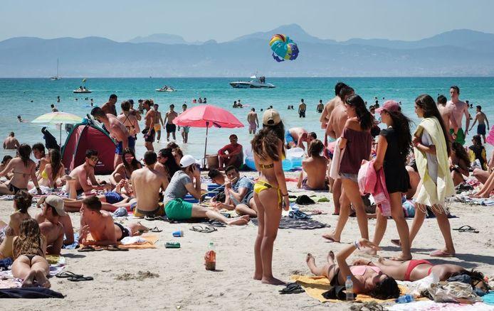 Playa de Palma beach in Palma de Mallorca, Spanje.