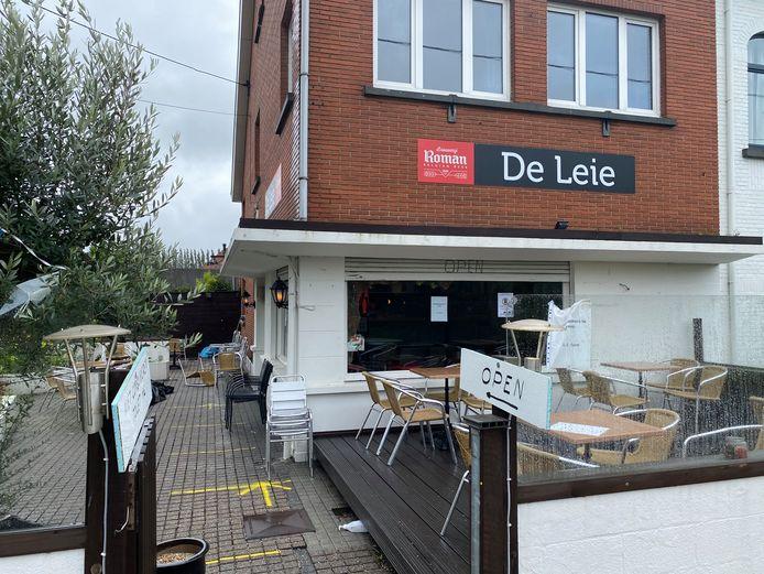 Café De Leie aan de Leie in Drongen.