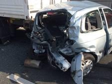 Lange file door ongeval op A20 bij Vlaardingen