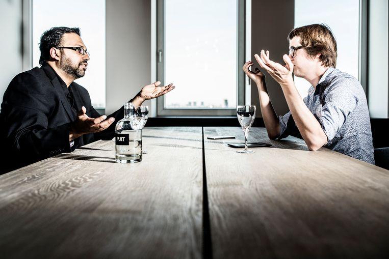 Ali Rivzi en Maarten Boudry.