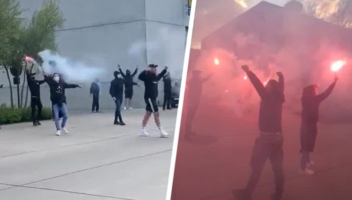 De fans van Club Brugge staken hun ploeg een hart onder de riem.