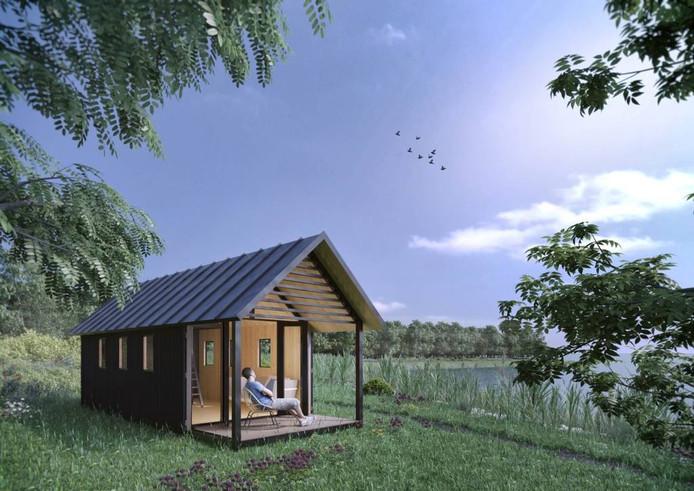 Een voorbeeld van een Tiny House. bron: Mill Home.