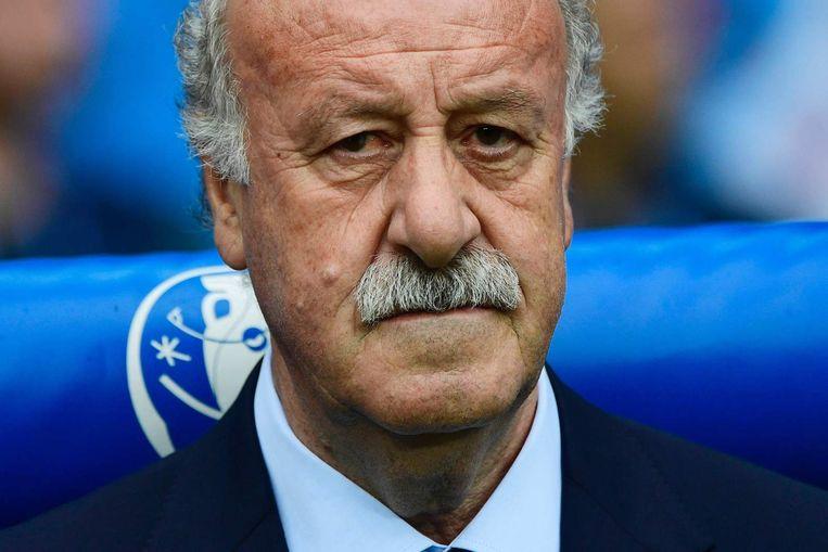 De Spaanse bondscoach Vicente Del Bosque. Beeld afp