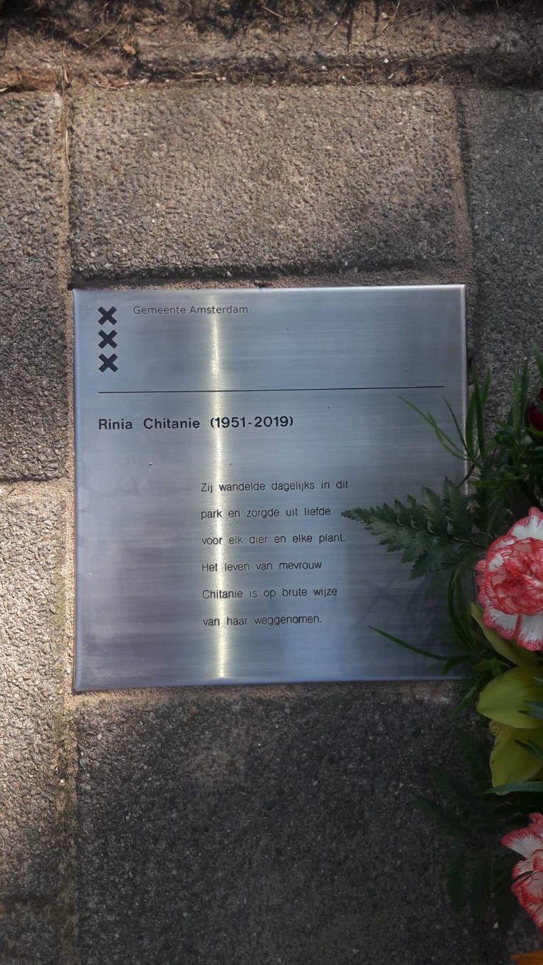 Gedenkteken Rinia Chitanie Beeld Het Parool