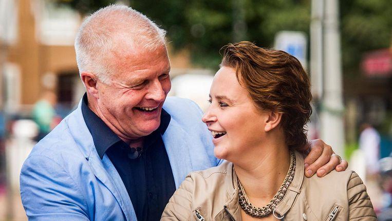 Peter Jan Rens met zijn verloofde. Beeld anp