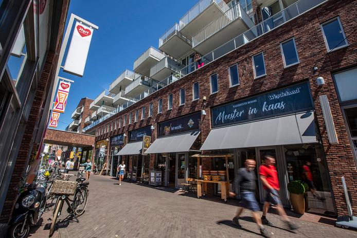 Het winkelcentrum in 's-Gravenzande.
