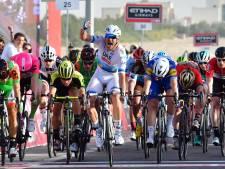Kristoff wint in Abu Dhabi, whiplash voor Cavendish