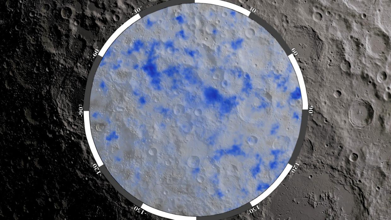 Water op de maan.