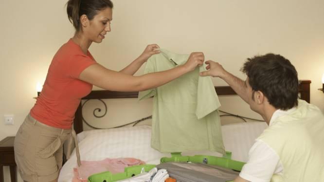 Meer dan 1 op 3 mannen laat koffer inpakken door vrouw