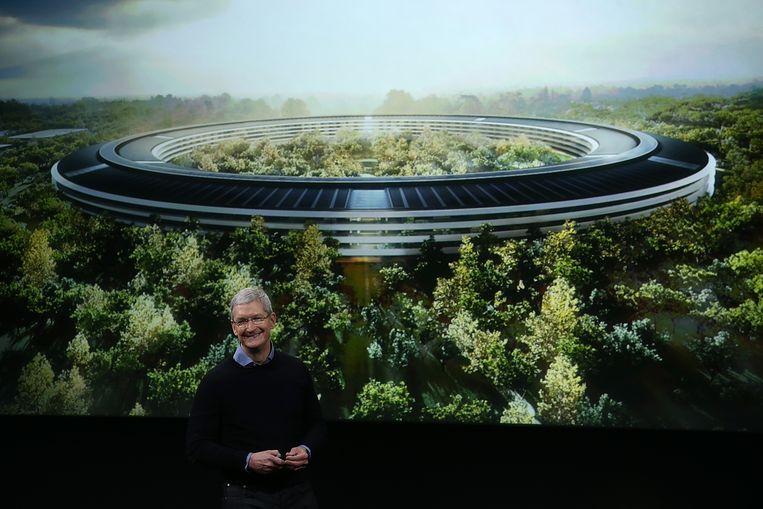 Geen saaie kantoren, maar een natuurreservaat. Zo had voormalig CEO van Apple, Steve Jobs, het in zijn hoofd.