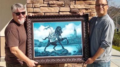 Ros Beiaard als Marvel-held: Hollywoodillustrator maakt uniek portret van Dendermondse trots