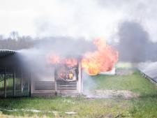 Brand in schakelstation zonnepanelen bij Emmeloord
