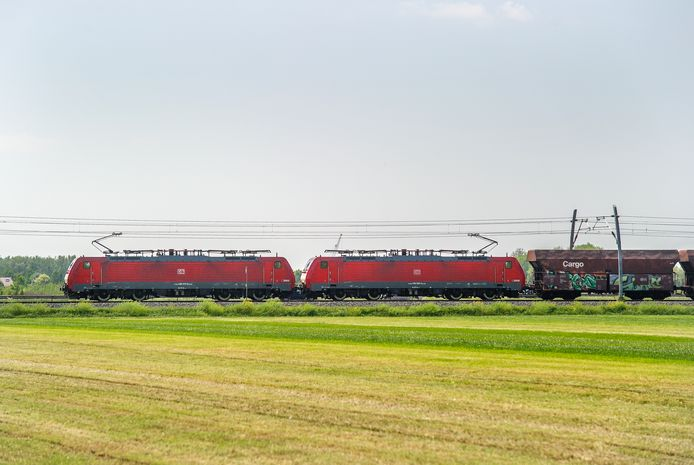 Een goederentrein op de Betuweroute bij Zetten. Foto ter illustratie.