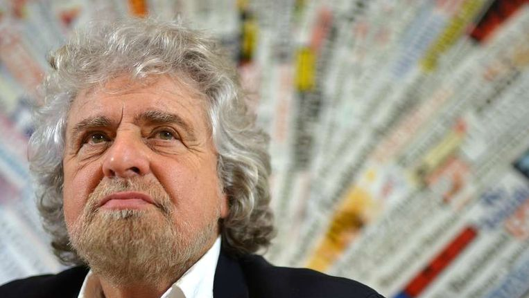 Beppe Grillo Beeld afp