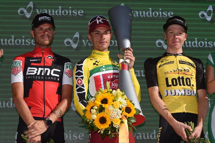 Kruijswijk op het podium in de Ronde van Zwitserland