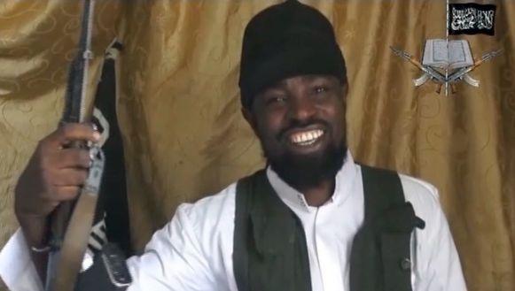 Een screenshot van de vermeende Boko Haram-leider Abubakar Shekau uit een eerder video in het bezit van persbureau AFP.