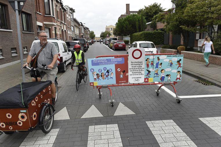 In de Baron Leroystraat in Deurne werd eerder ook al een schoolstraat ingericht.