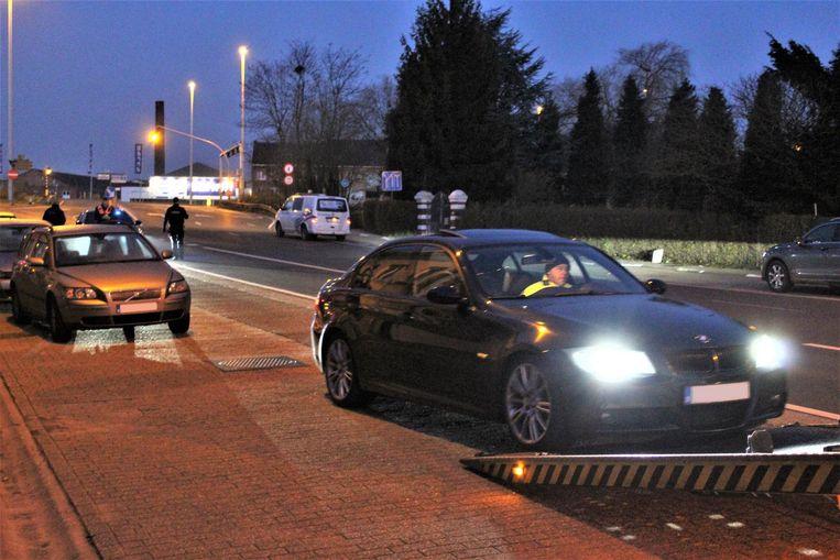 Tijdens de acties in Limburg werden verschillende auto's in beslag genomen.