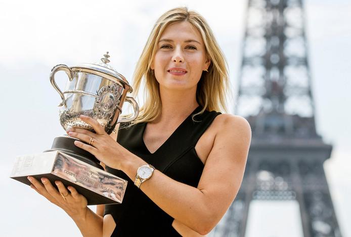 Maria Sjarapova won vijf Grand Slams, waaronder Roland Garros in 2012 en 2014.