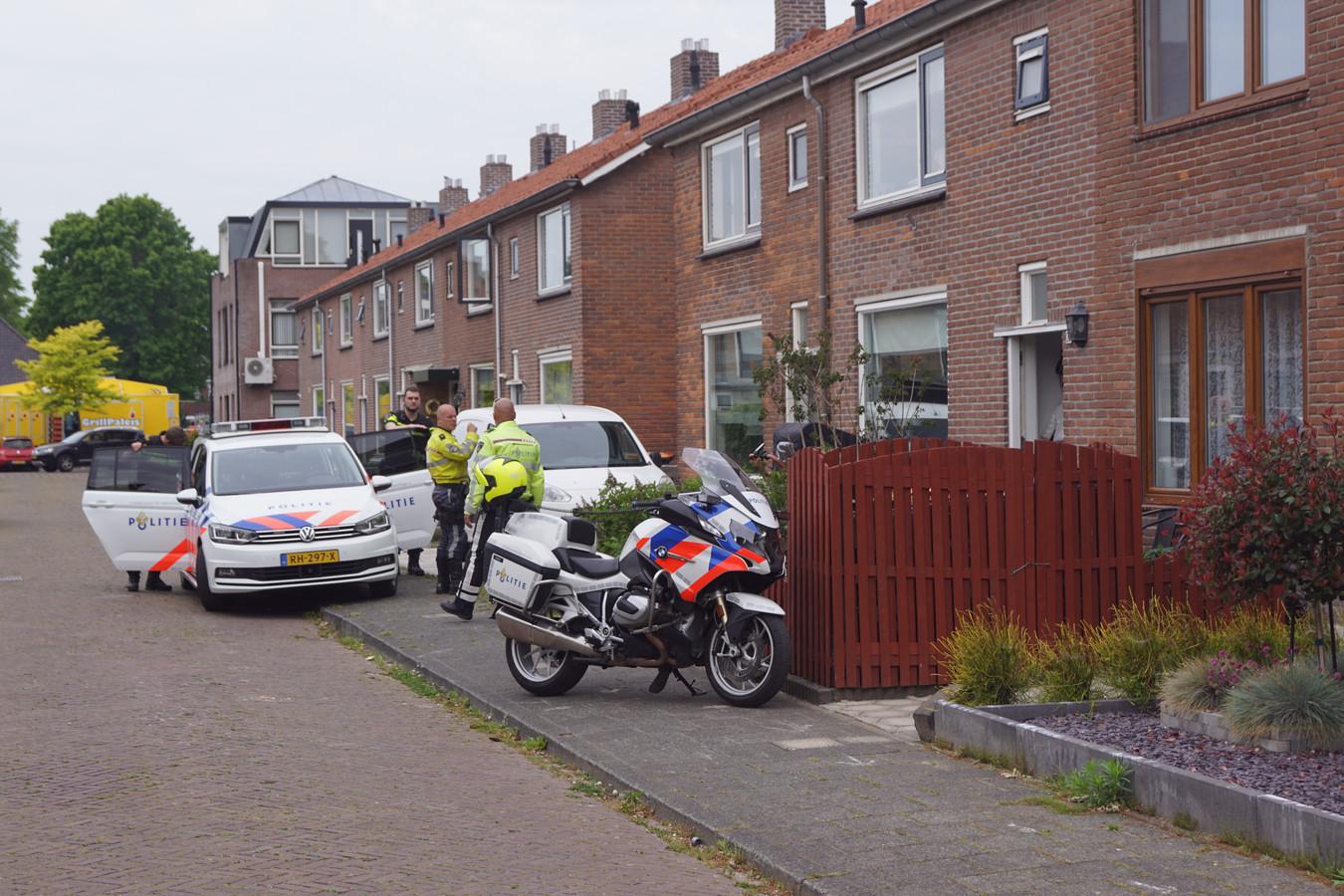 Een 35-jarige man is door de politie aangehouden.