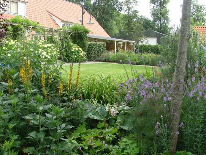 De tuin van Piet en Mariet Huizinga is een van de twee tuinen die tijdens de Open Tuinen Dagen te bezoeken is.