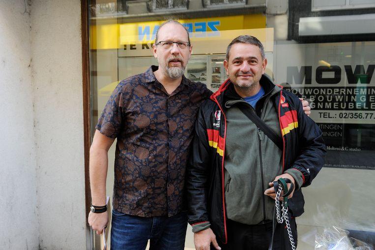 Philip Demanet, die een winkel in lederwaren uitbaat, en Angyal Istva'n.