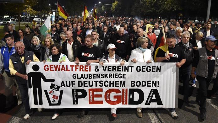 De anit-Islambeweging Pegida is vooral in Duitsland erg actief.