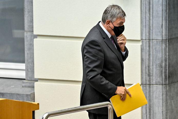 Vlaams minister-president Jan Jambon tijdens de openingszitting van het Vlaams Parlement.