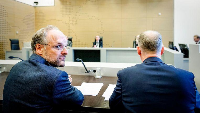 Niesco Dubbelboer (L) eerder tijdens de rechtszaak over de blokkade van minister Kajsa Ollongren Beeld anp