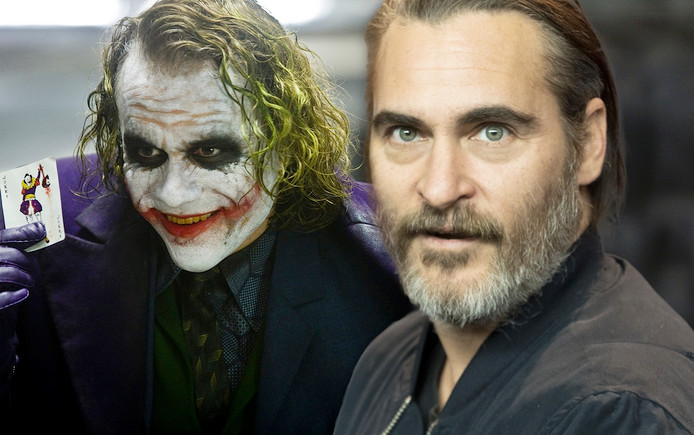 Heath Ledger in 2008 als The Joker. Joaquin Phoenix neemt zijn rol over.