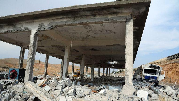 Schade die is aangericht door luchtaanvallen van Israël op Syrië Beeld ap