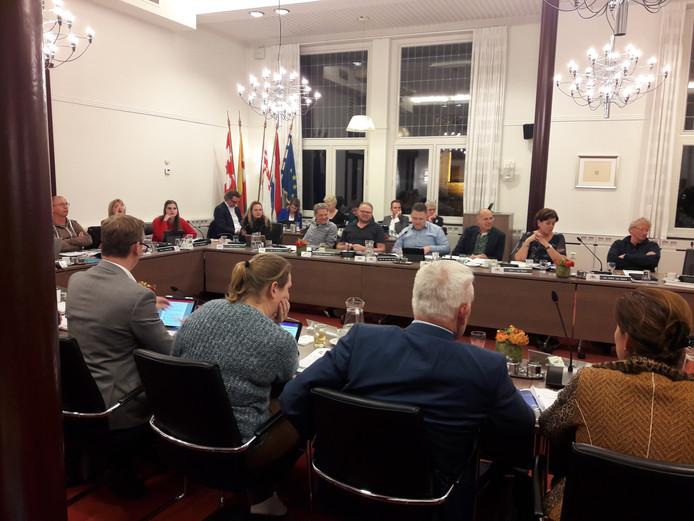 Gemeenteraad van Oisterwijk bijeen voor zijn begrotingsvergadering (november 2018).