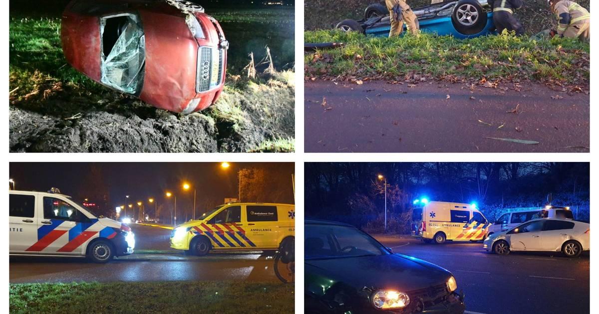 Extreem veel zware ongelukken deze avondspits in Twente.