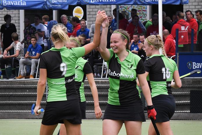 De hockeysters van Boxmeer wonnen gisteren in Geldrop met 3-2. Archieffoto Ed van Alem