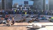 """Klimaatprotest aan Europees Parlement: """"België loopt achter, we mogen geen vijf jaar meer wachten"""""""