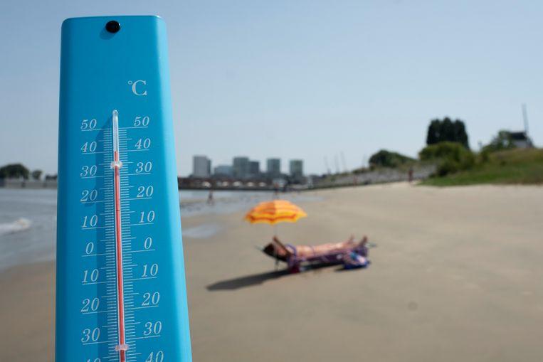 Op Sint-Anneke steeg de temperatuur in de zon naar 40 graden