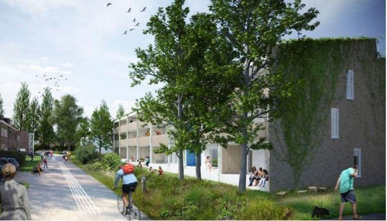 Een voorbeeld van de nieuwe bebouwing, hier in de Acacialaan.