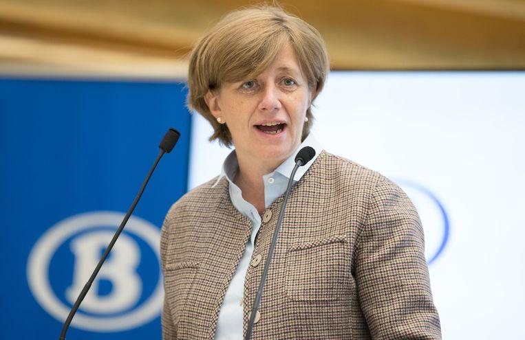 De CEO van de spoorwegmaatschappij NMBS, Sophie Dutordoir