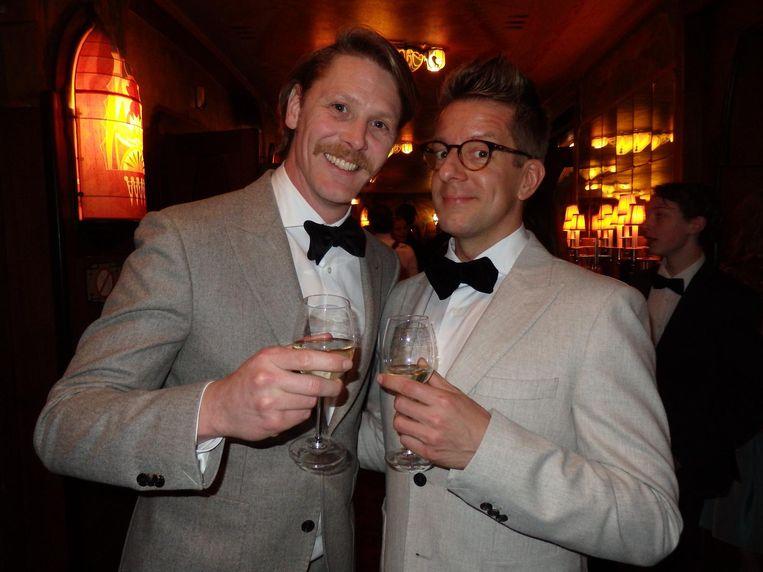 Medehoofdrolspelers Gijs Naber (l) en Alex Klaasen Beeld Schuim