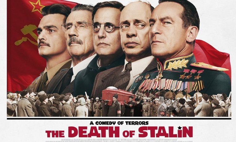 The Death of Stalin. Het ministerie van Cultuur verbood in januari de vertoning van de zwarte komedie. Die zou kwetsend zijn voor `historische symbolen.` Beeld