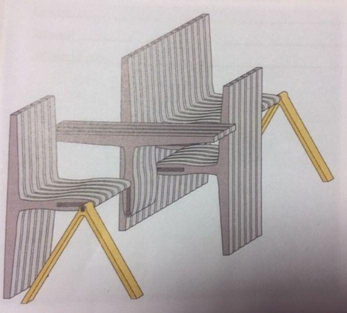Het ontwerp van eerstejaars studente Joep de Ruijter.