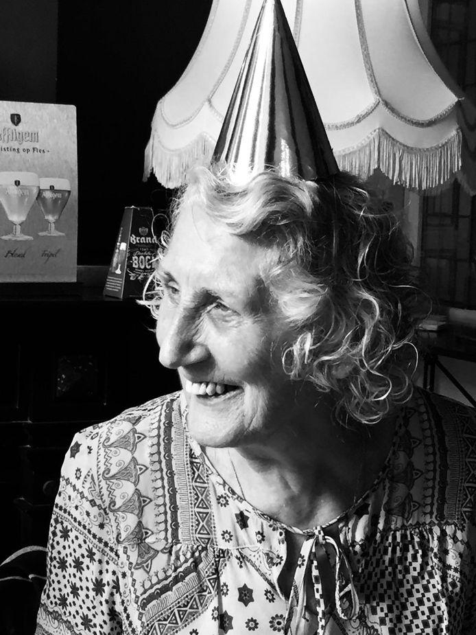 Nell Eggermont op haar 82ste verjaardag.