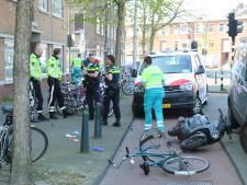 Twee gewonden bij botsing tussen fietser en scooterrijder