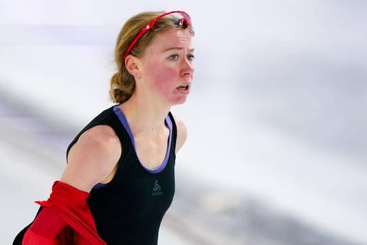 Esmee Visser baalt van haar 3000 meter.