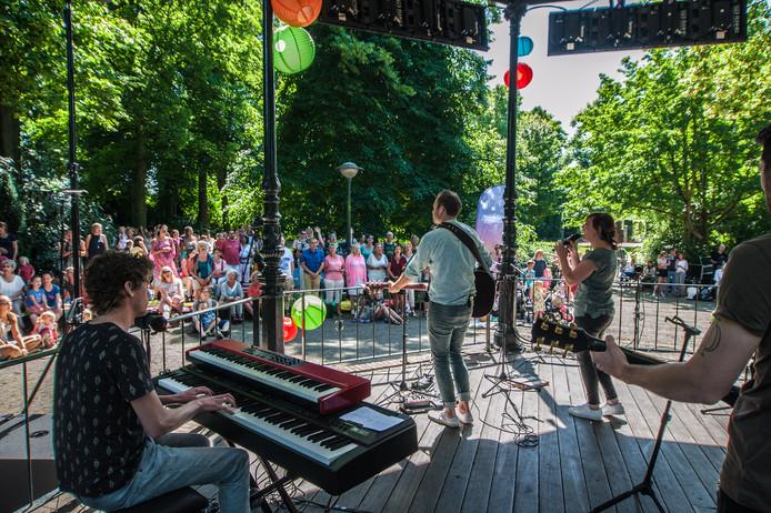 Archieffoto: De muziektent op het Houtmansplantsoen.