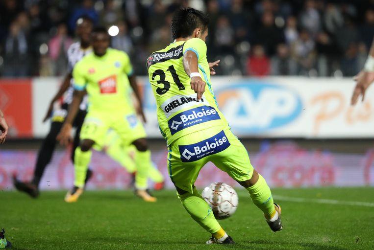 Kubo scoorde afgelopen weekend tegen Charleroi.