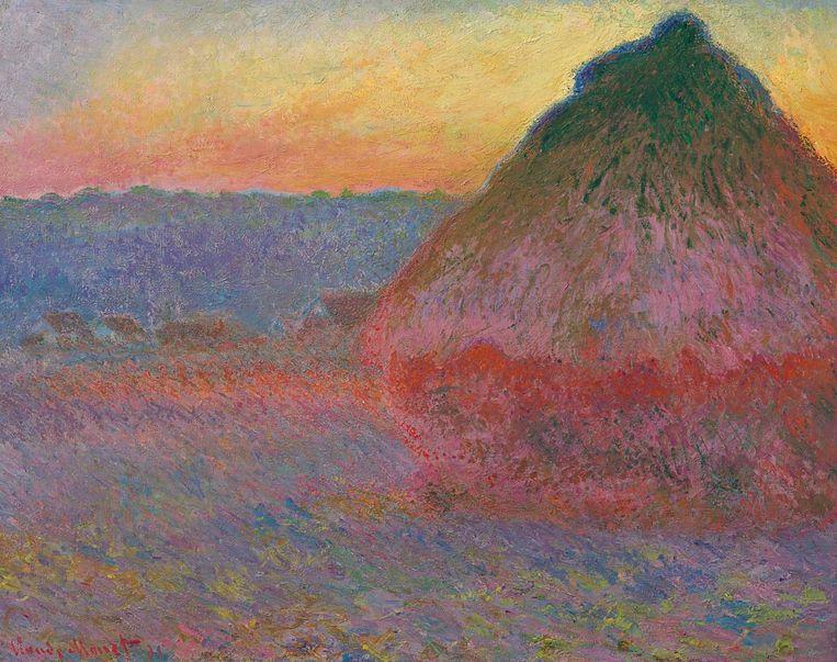 Meule, 1891, van Monet is voor een recordopbrengst geveild bij Christie's in New York. Beeld Christie's