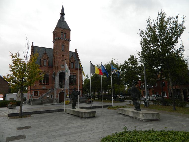 Het centrum van Lovendegem.