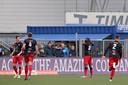 Ahmad Mendes Moreira juicht nadat hij Excelsior op 1-2 heeft gezet in de uitwedstrijd bij FC Den Bosch.