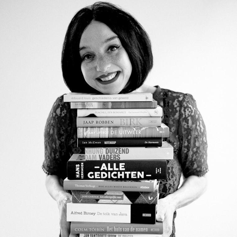 Boekverkoper van het jaar Margreet de Haan van 't Spui in Vlissingen. Beeld Jérôme Schlomoff